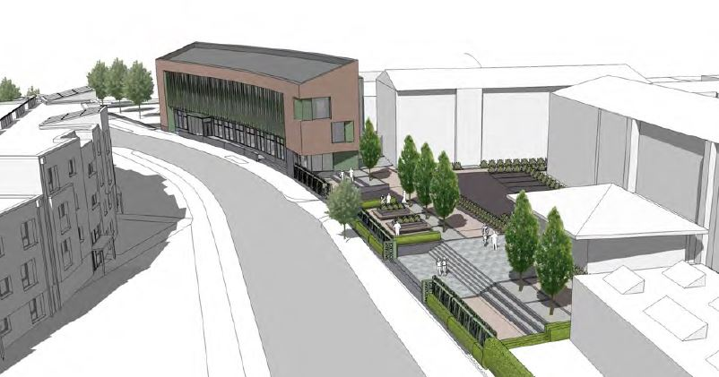 An artist's impression of the new teaching building on Chestnut Avenue